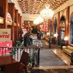 Lobby, decked out by the Liberal Party