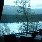 Vue sur le lac de la salle à manger