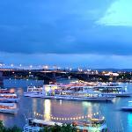 Ausblick aus meinem Zimmer im Hilton Mainz am Rhein