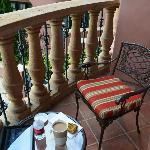 Balcony of our room. Great for drinking coffee in the morning.