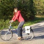 Hanna on a bike ride around CDA