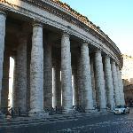 Columbs outside St Peters Basilica
