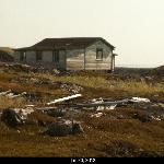 abandoned house on Caribou Island