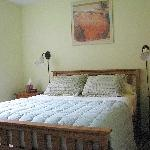 Cheerful Bedroom with pillow-top queen bed