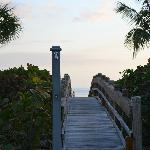 Walking bridge to the beach