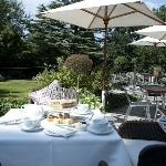 Enjoy al fresco dining on our tranquil terrace