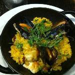 Seafood Paella at Rocksalt Restaurant