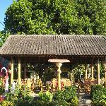 breakfast and dinner: at Warung Bambu under the clove tree