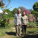 the very friendly owners of Karang Sari Guesthouse