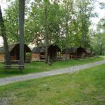 Row of KCabins at the Grand Island, NY KOA