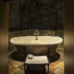 Soaker tub in the Tower Room