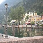 The steamer station at Riva del Garda