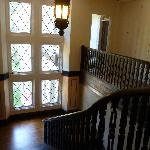 incredible huge windows and quartersawn wood staircase