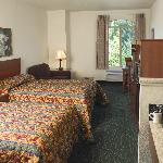 Double Queen Room w/microwave, refrigerator, coffee maker and free wired internet and WIFI