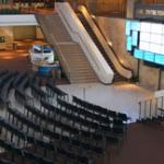 Sony Centre main lobby, set for event
