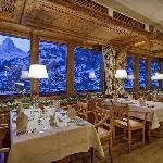 Dining room with the best view on the Matterhorn in Zermatt