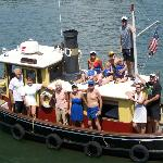 Family on Maggie the Tugboat