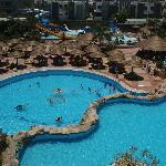 Widok z pokoi w części Resort