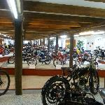 The motorbike displays go on and on - a treat for all bikers