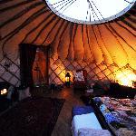 The yurt by night