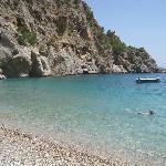 Achata beach, perfekt snorkelstrand med grottor och klart vatten