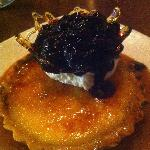Lemon Tart with Main Blueberry Compote