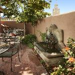 Enjoy your breakfast near the fountain in our patio.