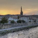 View of Limoux with the historic church of St. Martin.