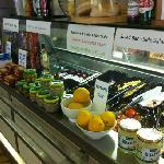salad counter.