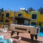 pool table and bar
