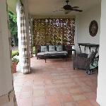 The covered patio.