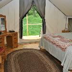 Inside the Glamping Tents