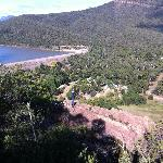 Halls Gap Lakeside Tourist Park, on the right of the wall at Lake Bellfield.