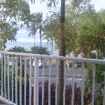 View of the beach from the apartment