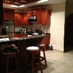 kitchen area was nice and big with all the appliances