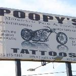 Poopy's sign