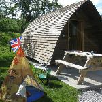 Our WigWam, with side play area (our own toy tent)