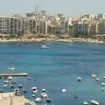 Spinola Bay view from the hotel roof