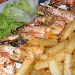 mummy big shrimps on grill