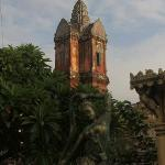 View of the Prasat (tower) early morning
