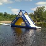 zoom in view of the awesome fast lake slide