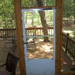 From screened porch