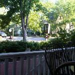 View from the Inn's porch at breakfast