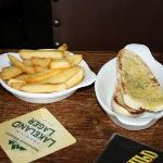 Side of Chips and Side of Garlic Bread (£1 each)