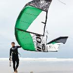 Josh Coombes one of our kitesurfing instructors is a Felxifoil team rider