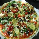 Mediterranean Pizza from Red Grape Pizzeria