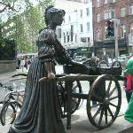 Molly Malone statue Dublin city centre