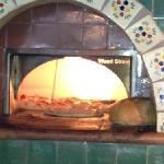 brick oven - for perfect crust!