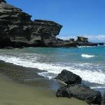 Green Sand Beach at Mahana Bay, Big Island HI