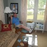 My dad in the living room